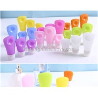 Eco-Friendly Novelty Suction Cup Sub-Bottle Outdoor Travel Silicone Bottles