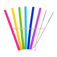 Food Grade Drink Straight Silicone Beverage Straw