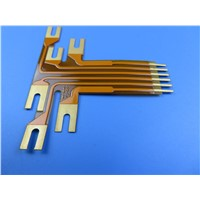 2oz Flexible PCB FPC Built on Polyimide with Gold Plating