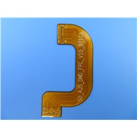 Double Sided Flexible PCB with Stiffener of Stainless Steel Shim