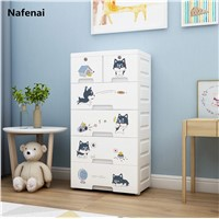 Large Capacity Multi-Function Cloth Wardrobe Closet Plastic Folding Clothing Storage Children's Cabinets