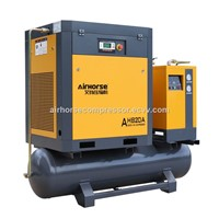 Air Tank & Dryer Mounted Rotary Screw Air Compressor