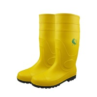 CE Standard Yellow Steel Toe Waterproof PVC Safety Rain Boots for Work