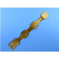 Flexible Printed Circuit (FPC) Built on 1oz Polyimide with FR-4 Support Security Access Systems