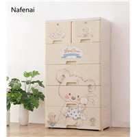 Simple Style Drawer Storage Cabinets DIY Assembly Wardrobe Storage Box Save Space Large Plastic Cloest