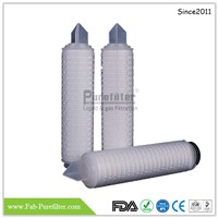 Glass Fiber Pleated Filter Cartridge for Liquid Especially for Gel, Oil & Protein Materials & Other High Particle