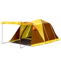 Double Layers Two Rooms One Hall Family Tent Made of 210D Coated Oxford & Steel & Glass Fiber
