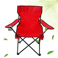 Folding Fishing Camping Folding Beach Chair with Arm Cup Holder