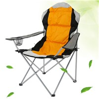 Large Size Outdoor Folding Beach Chair with Cotton Filling for Fishing Camping Picnic Or Garden Use