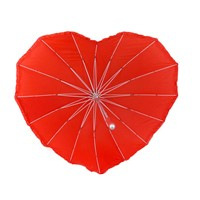 Creative Heart-Shaped UV Protection Parasol Long Handle Wedding Umbrella for Gift