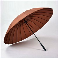 Wind - Resistant Straight Men Umbrella with 24 Ribs