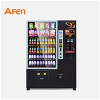 AFEN Black Beverage Snacks Drinks Brand New Coffee Combo Vending Machine
