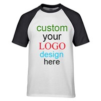 Create Your Own Cotton Raglan Contrast Sleeve t-Shirts with Custom Printing