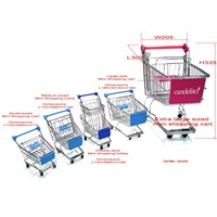 Mini Toy Cart / Small Shopping Trolley / Metal Carts / Iron Wire Trolley