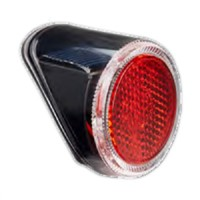 1 Red LED Bicycle Rear Light Fir on Fender with Solar Energy Rechargeable(HLT-014)