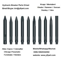 Mining Chile Hydraulic Products Equipment Accessory Krupp Chisel Drill Bit HM60V, HM75, HM85, HM90V, HM100, HM110, HM130