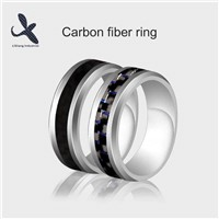 High End Tungsten Steel Wedding Rings Popular Jewelry Carbon Fiber Mens Ring