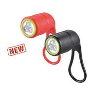 Silicon 3 White LED Bicycle Rear Light