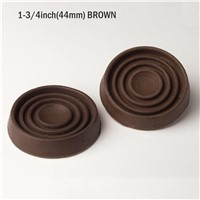 1-3/4inch_ROUND CASTOR CUPS, Rubber Base, Protects Floors BROWN - 38 Or 44mm