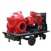 Large Flow Diesel Engine Mobile Water Pump