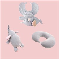 Travel U Pillow Cute Animal Foam Particle U Shaped Pillow Kawayi Neck Pillows Neck Cervical Free Shipping