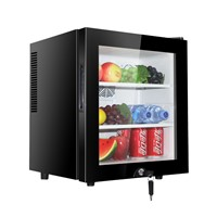 30L Glass Door with Lock Mini Bar Refrigerator