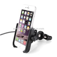 2019 Hot-Selling Motorcycle Phone Mount Metal Bike Phone Holder Compatible with iPhone X/8/7/6 Plus SmartPhone 3-6.6inch