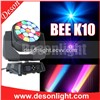 New 19x15w K10 Zoom LED Big Bee Eyes Wash Beam Light LM-1915B