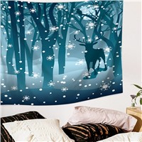 Elk Tapestry Home Decorative Tapete Bedroom Blanket Table Cloth Yoga Mat Cheap Wall Tapestry