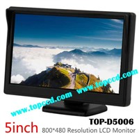 5 Inch Dash Mount Car Rear View LCD Monitor with 2CH Video Inputs from Topccd (TOP-D5006)
