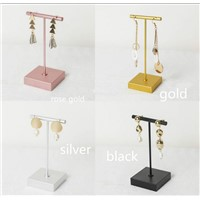 Lilladisplay-Metal T Shaped Earring Display Stand for Retail Display with Two Sizes 4 Colors 2019 New Design Style #2019