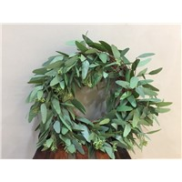 Big Artificial Eucalyptus Leaves Wreath for Decoration 2018 New Design