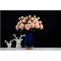 4 Heads Artificial Silk Rose Flower