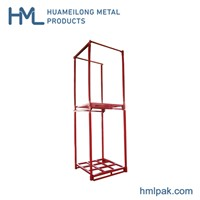 Warehouse Logistics Powder Heavy Duty Quakeproof Stackable Forklift Storage Steel Metal Frame Pallet Nestainer Rack