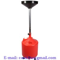 18 Gallon Plastic Waste Oil Lift Drain with Caster Telescoping Oil Drainer