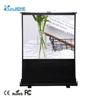 Portable Front Projection Floor Stand Pull up Projector Screen