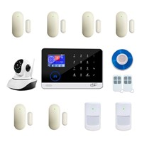 WiFi & GSM 3G Dual Network Wireless Home Alarm & Security Camera System