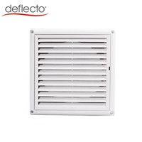 Plastic Louvered Vent with Nylon Mesh Dryer Vent Cover