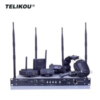 2019 Hot Sales TELIKOU MDS-400 2.4G Digital Full Duplex Four Users Wireless Intercom System Professional Radio & TV Br