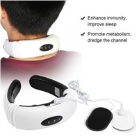 Neck Massager Electric Pulse Massager Cervical Vertebra Treatment Acupuncture Magnetic Therapy Health Care