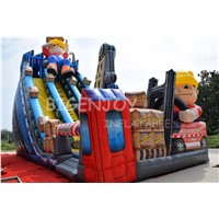 Giant Builder Crane Hoist Inflatable Slide