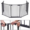 Fireplace Fence Baby Safety Walk-through Door, Metal Fire Gate/Wide Barrier Gate Pets Dog Cat Christmas Tree Fence