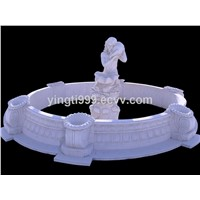 White Marble Sculpture Fountain Garden Water Feature for Decoration