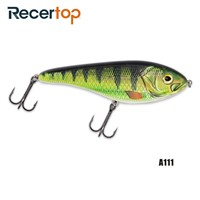 Recertop Heavy Plastic S-Type Swimming Jerk Bait Sinking Fishing Hard Lure