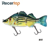 Recertop Size Customized Steel Pin Jointed Swimbait Strong Tension Hard Lure