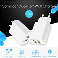Dual USB Charger Adapter 3.4A Mobile Phone Charger
