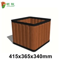 Wood Plastic Composite Outdoor Garden Flower Plant Pot