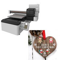 Colorful Christmas Wood Heart Shape Decoration Printing Machine