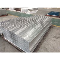 Aluminium Tread/Chequered Plate for Anti-Skid 1100 & 3003 with 5 Bars