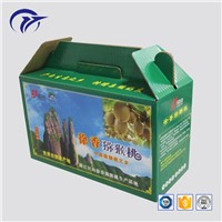 Customized Printing Popular Fruit & Vegetable Packaging Corrugated Paper Box with Handle